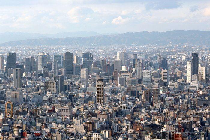 大阪城_あべのハルカスからの眺め~大阪市最高地点から見た色んな場所~